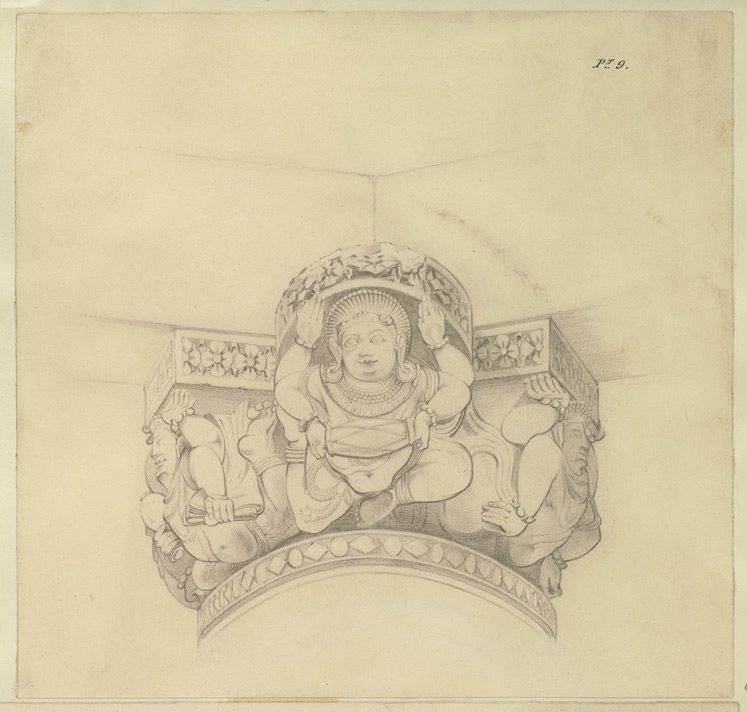 Plate 9. Elevation of a capital of a column in temple of Nilkanth